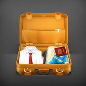 Suitcase, vector — Stock Vector
