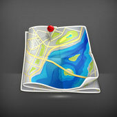 City map, vector — Stock Vector