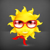 Fun sun, vector — Stock Vector