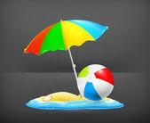 Summer icon, vector — Stock Vector