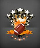 American Football Emblem, vector — Stock Vector