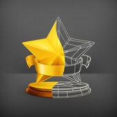 Yarım yıldız ödülü, vektör — Stok Vektör