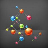 Molecule, vector — Stock Vector