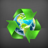 Recycling Earth, vector — Stock Vector