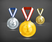 Medals, 10eps — Stock Vector