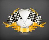 Racing Emblem, vector — Stock Vector