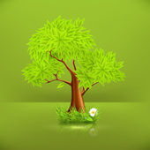 Green Tree, 10eps — Stockvector