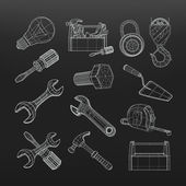 Drawing tools set, vector — Stock Vector