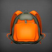 Backpack, vector — Stock Vector