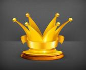 Golden crown, vector — Stock Vector