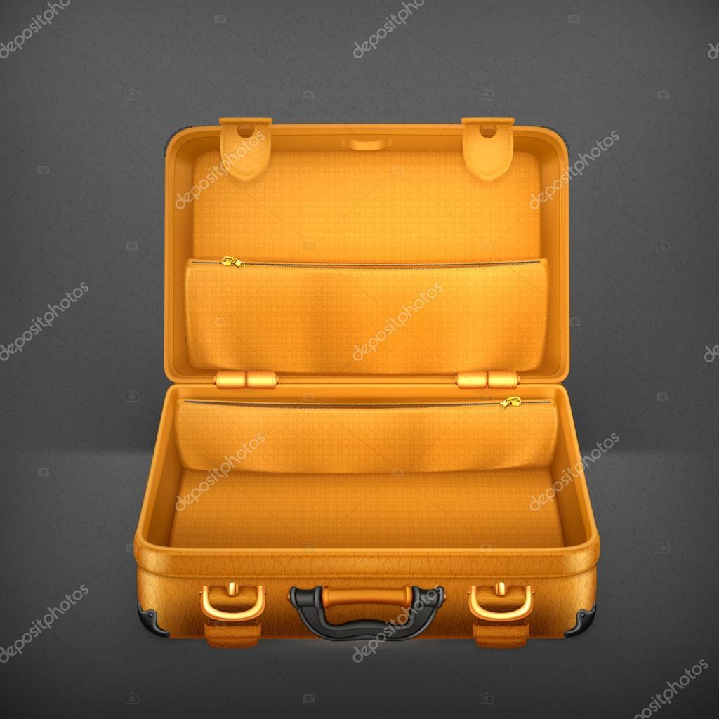 Open Briefcase Vector Open Suitcase Vector Vector
