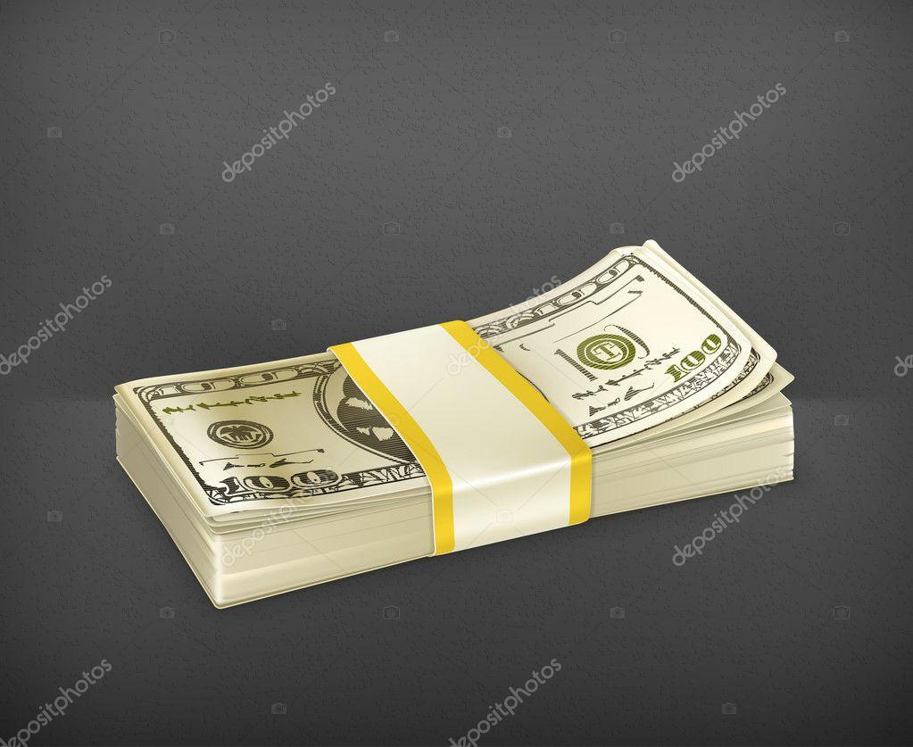 Stack of money, vector