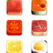 Food app icons vector set — Stock Vector