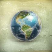 地球、古いスタイルのベクトル — Stock vektor