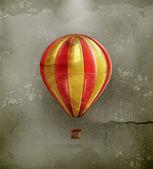 Air balloon, old-style vector — Stock Vector
