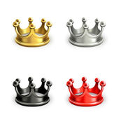 Multicolored crowns vector set — Stock vektor