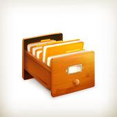 Open card catalog, vector — Stock Vector