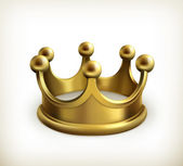 Gold crown vector — Vettoriale Stock