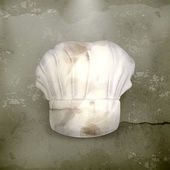 Chef şapka, eski stil vektör — Stok Vektör