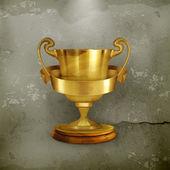 Złote trofeum, w starym stylu wektor — Wektor stockowy