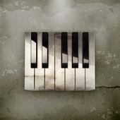 Oktave, tasten eines klaviers mediäval vektor — Stockvektor