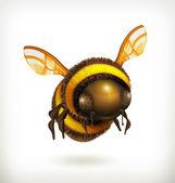 Bee vector icon — Stock Vector