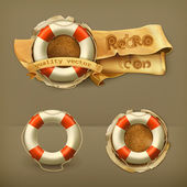 Lifebuoy, vector icon — Vector de stock