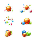 Molecule icon vector set — Stock Vector