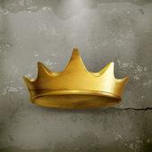 Golden crown, old style vector — Stock Vector