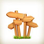 Wooden signs, vector — Stock Vector