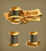 Spool of thread, vector icon — Stock Vector