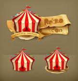 Circus, vector icon — Stock Vector