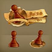 Chess Pawn, vector icon — Stock Vector