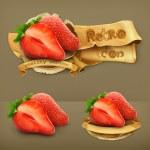 Strawberry, retro vector icon — Stock Vector #44309599