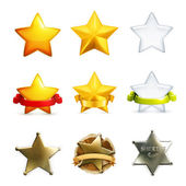 Stars icon set, vector — Stock Vector