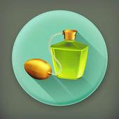 Perfume long shadow vector icon — Stock Vector