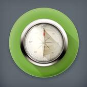 Compass long shadow vector icon — Stock Vector