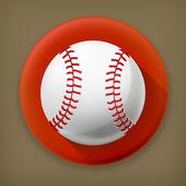Baseball, long shadow vector icon — Stock Vector