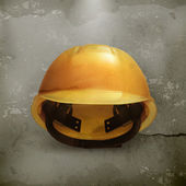 Hard hat, old style vector — Stock Vector