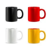 Mugs vector set — Stock Vector