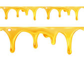 Sweet honey drips seamless vector — Stock Vector