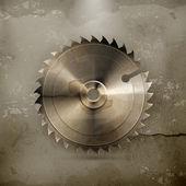Circular saw blade, old style vector — Stockvektor