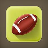 American Football und lange Schatten-Vektor-Symbol — Stockvektor
