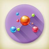 μόριο, πολύ σκιά εικονίδιο του φορέα — Vecteur