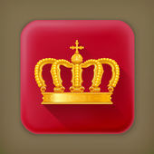 Crown, long shadow vector icon — Stock Vector