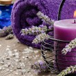 Spa setting in purple tone — Stock Photo #12672740