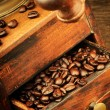 Royalty-Free Stock Photo: Vintage wooden coffee mill grinder