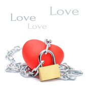 Chained red heart — Stock Photo