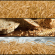 Banners - Wheat and Bread - Stock Photo