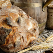 Freshly baked traditional bread - Foto Stock
